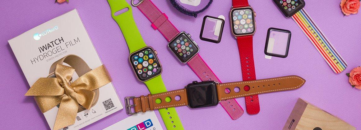 При покупке ремешка Coteetci защитная пленка для Apple Watch в подарок