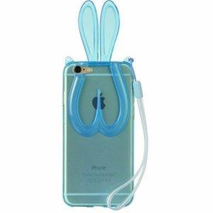 Чехол-накладка для Apple iPhone 6 - зайчик, голубой