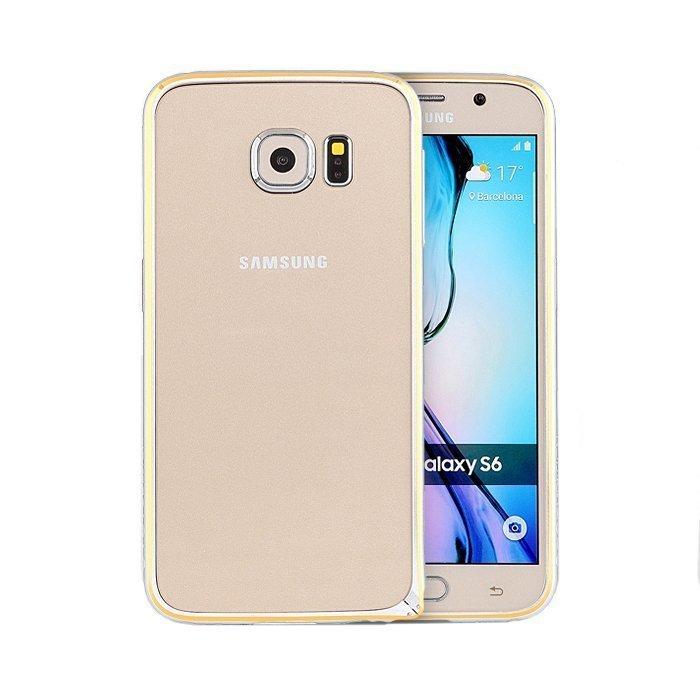 Чехол-бампер для Samsung Galaxy S6 - Totu Mellow Element серебристый + золотистый