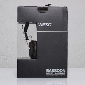 Наушники WeSC Bassoon DJ Pro черные + серебристые
