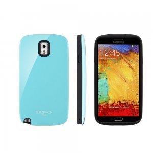 Чехол-накладка для Samsung Galaxy Note 3 - Slimpack Plus голубой