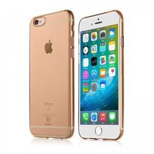 Полупрозрачный чехол Baseus Clear золотой для iPhone 6/6S Plus