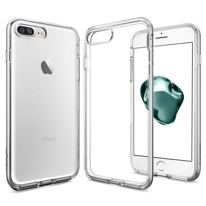 Защитный чехол Spigen Neo Crystal прозрачный + серебристый для iPhone 8 Plus/7 Plus