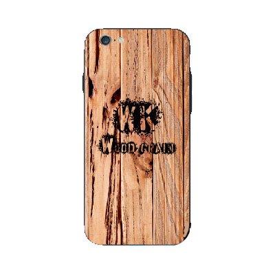 Чехол с рисунком WK Wood Grain коричневый для iPhone 6/6S