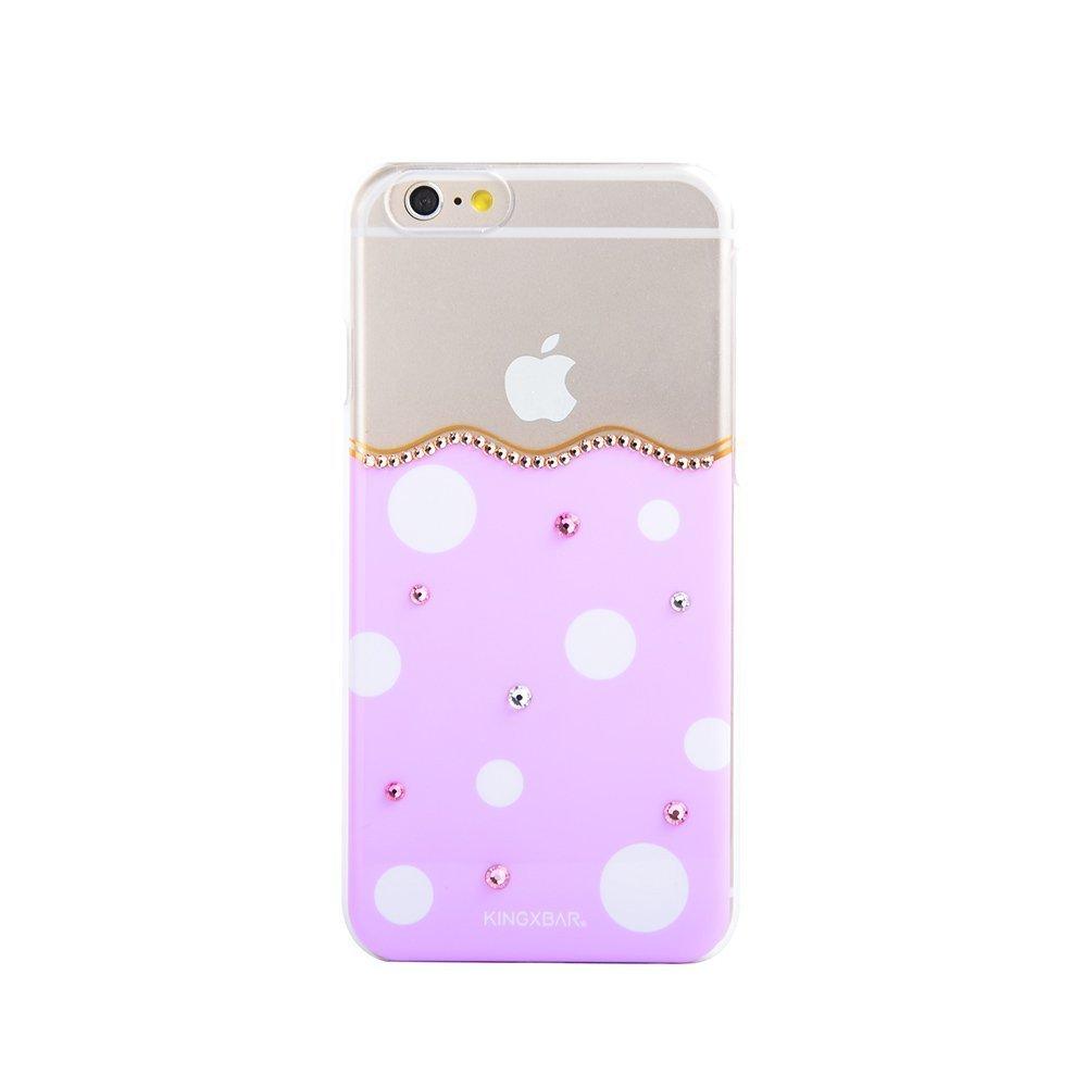 Чехол-накладка для Apple iPhone 6/6S - Kingxbar Polka-Dot фиолетовый