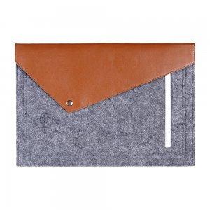 """Чехол-конверт Gmakin GM12 серый + коричневый для MacBook Air 13""""/Pro 13""""/ Pro 13"""" Retina"""
