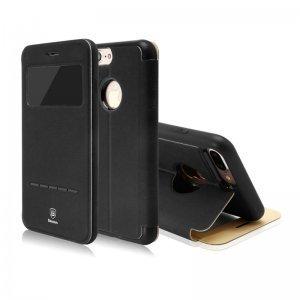 Чехол (книжка) с подставкой Baseus Simple черный для iPhone 7 Plus