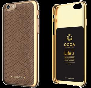Чехол-накладка для Apple iPhone 6/6S - OCCA Wild коричневый