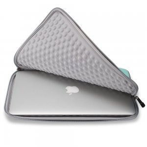 "Чехол-карман для Apple MacBook 13"" - Runetz Neoprene Sleeve голубой + серый"
