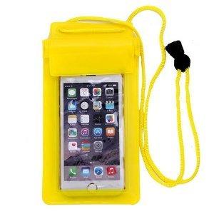 Универсальный водонепроницаемый желтый чехол для смартфона