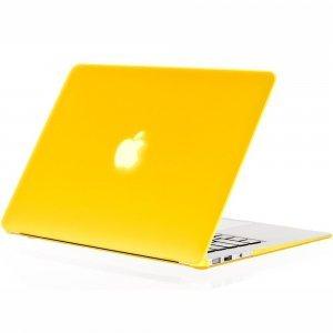 "Чехол-накладка для Apple MacBook Air 13"" - Kuzy Rubberized Hard Case желтый"