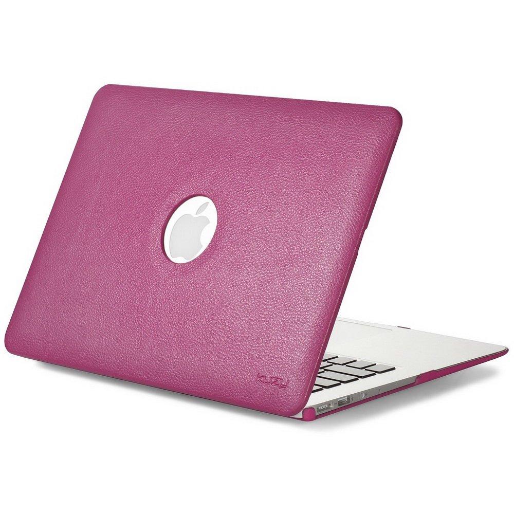 "Чехол-накладка для Apple MacBook Air 13"" - Kuzy Leather Hard Case розовый (Magenta)"
