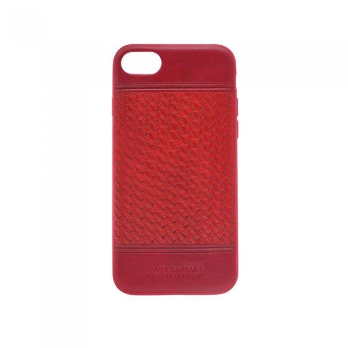 Кожаный чехол Polo Chevron красный для iPhone 8/7