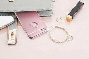 Чехол-накладка для Apple iPhone 6 - iBacks Armour Crystal Diamond Cartier розовый
