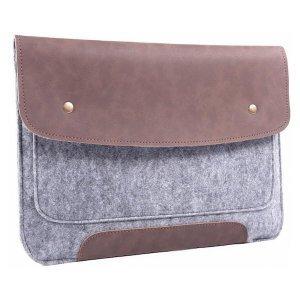"""Чехол-конверт Gmakin GM45 коричневый + серый для MacBook Air 13""""/Pro 13""""/ Pro 13"""" Retina"""