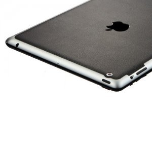 Наклейка для Apple iPad 4/3/2 - SGP Leather черная