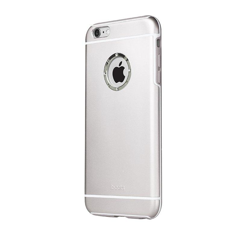 Чехол со стразами iBacks Armour Crystal Cartier серебристый для iPhone 6 Plus/6S Plus