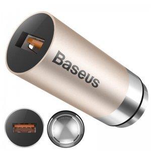Автомобильное зарядное устройство Baseus CarQ Series QC3.0, 2.8 Amp, золотистый
