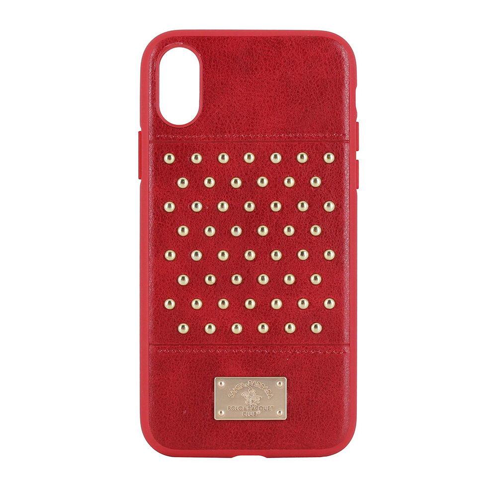 Кожаный чехол Polo Staccato красный для iPhone X/XS