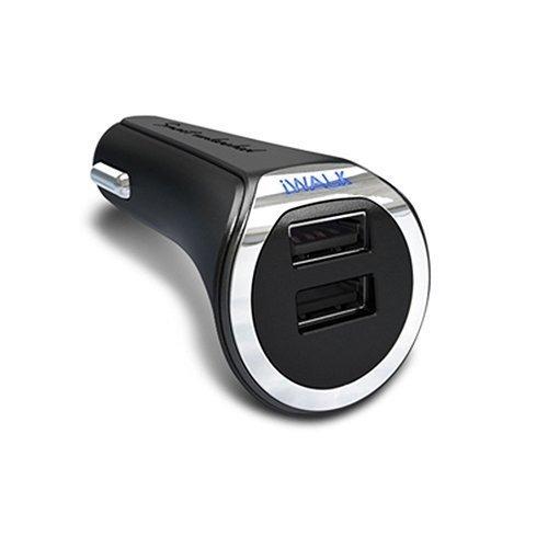 Автомобильное зарядное устройство iWALK Dolphin Duo 3.4А черное