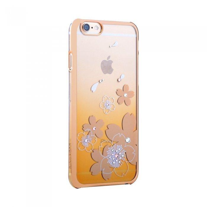 Чехол-накладка для Apple iPhone 6/6S - Kingxbar Flowers золотистый
