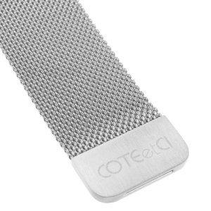 Ремешок Coteetci W6 серебристый для Apple Watch 38/40 мм
