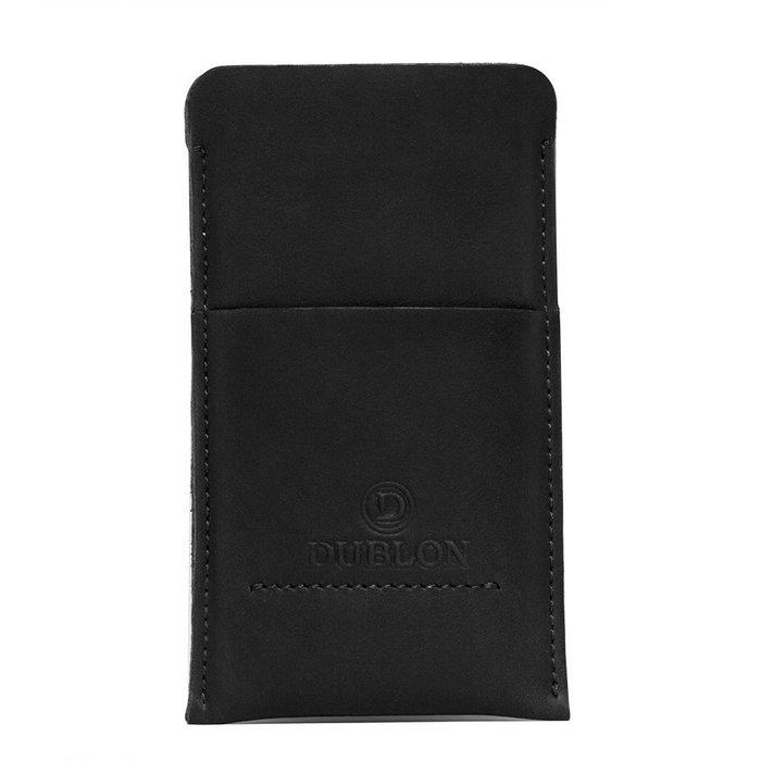 Чехол-карман Dublon Leatherworks Britain-2 чёрный для iPhone 6 Plus/6S Plus