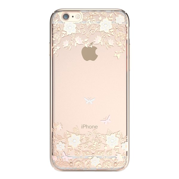 Чехол-накладка для Apple iPhone 6/6S - Kingxbar Dreamland Gold Lily