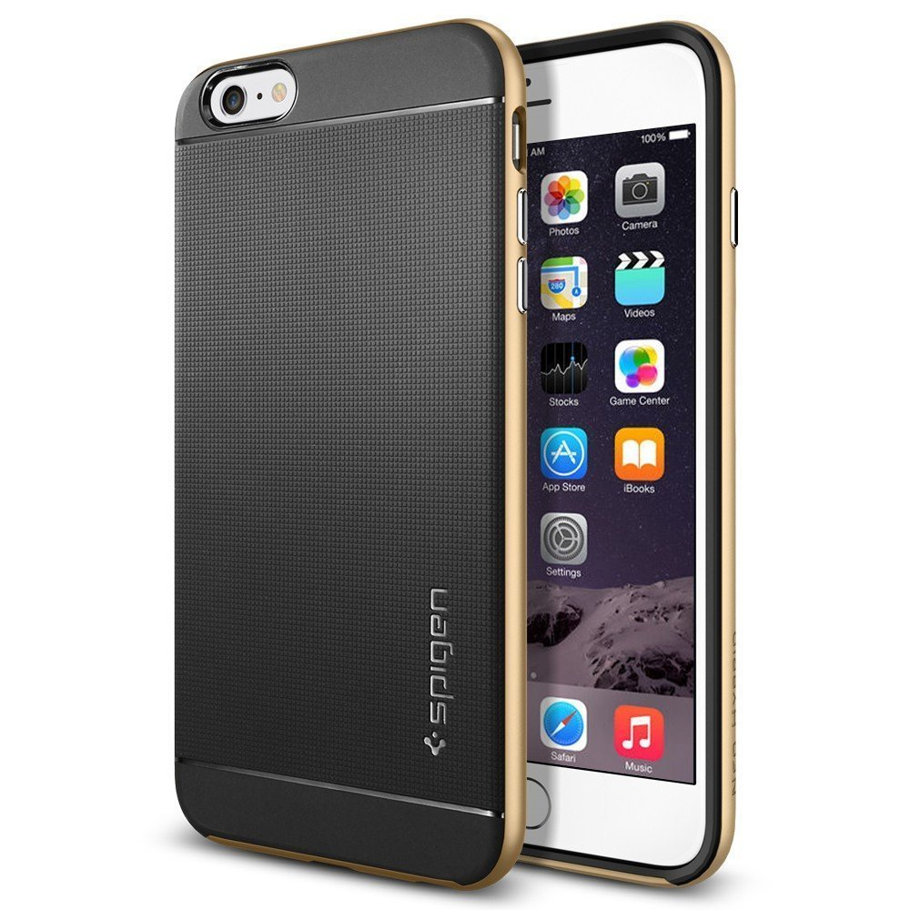 Чехол-накладка для iPhone 6 Plus/6S Plus - Spigen Case Neo Hybrid золотистый
