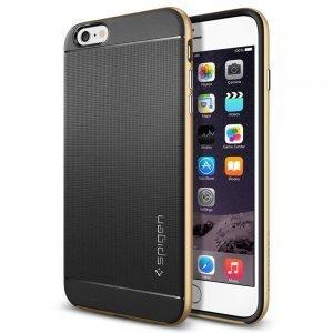 Чехол-накладка для Apple iPhone 6 Plus - Spigen Case Neo Hybrid золотистый