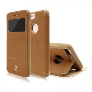 Чехол (книжка) с подставкой Baseus Simple коричневый для iPhone 8 Plus/7 Plus