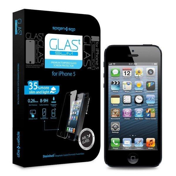 """Защитное стекло для Apple iPhone 5/5S - SGP Tempered Glass Slim """"Glas T"""" олеофобное"""