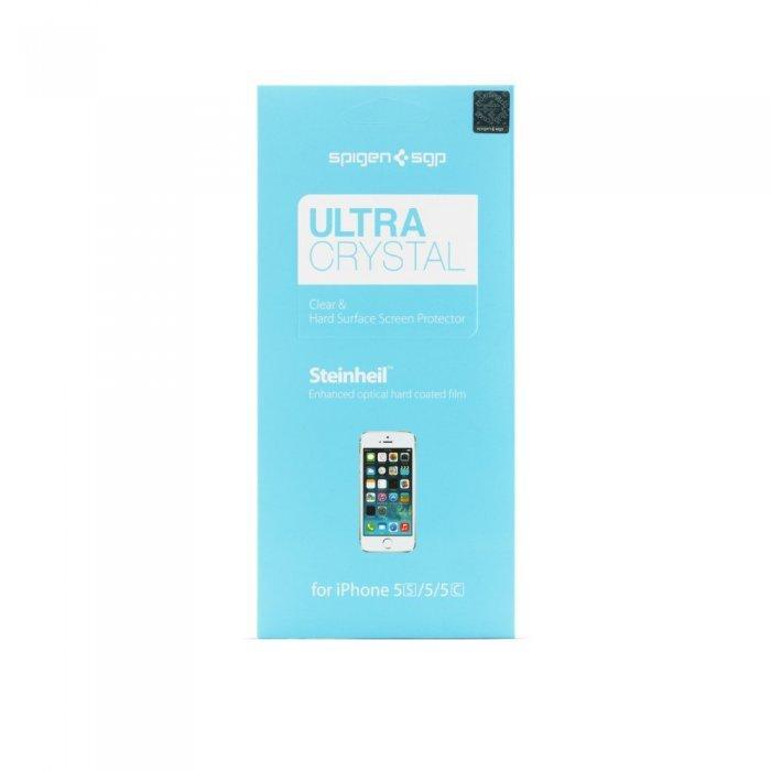 Набор защитных пленок для Apple iPhone 5S/5C/5 - SGP Steinheil Ultra Crystal глянцевая