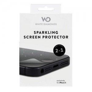 Защитная пленка для Apple iPhone 5S/5C/5 - White Diamonds Sparkling глянцевая с блестками