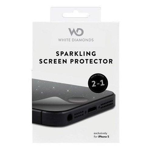 Защитная пленка для White Diamonds Sparkling глянцевая с блестками iPhone 5S/5C/5/SE