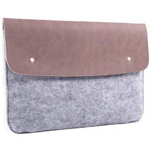 """Чехол-конверт Gmakin GM46 серый + коричневый для MacBook Air 13""""/Pro 13""""/ Pro 13"""" Retina"""