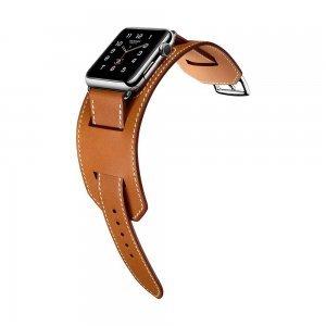 Ремешок для Apple Watch 42мм - Coteetci W10 Hermes коричневый
