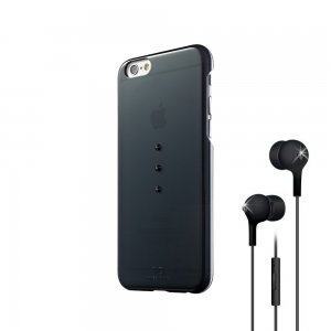 Набор чехол-накладка + гарнитура для Apple iPhone 6 - White Diamonds Bundle чёрный