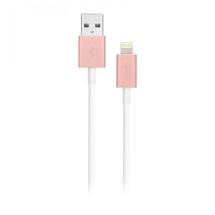 Кабель Lightning для Apple iPhone/iPad/iPod - Moshi Lightning to USB 1м розовый