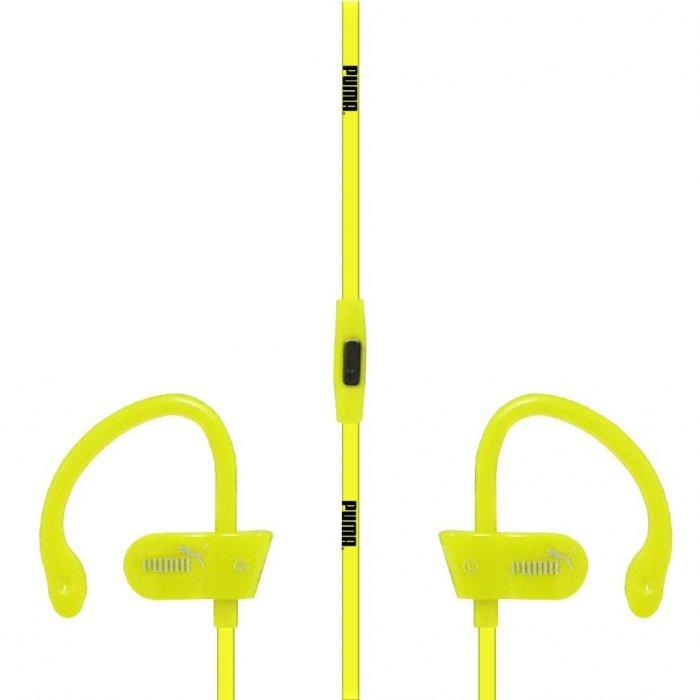 Наушники Puma Sport с микрофоном, желтые