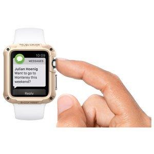 Чехол-накладка для Apple Watch 42mm - Spigen Tough Armor золотистый (РЕПЛИКА)