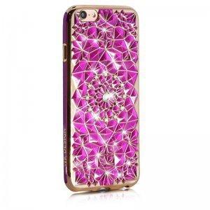 3D чехол со стразами WK Sunflower розовый для iPhone 6/6S