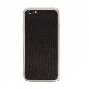 Наклейка для Apple iPhone 6/6S - кожа змеи, чёрная