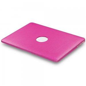 "Чехол-накладка для Apple MacBook Air 13"" - Kuzy Leather Hard Case розовый (Neon Pink)"