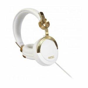 Наушники WeSC Bassoon DJ Pro золотистые + белые