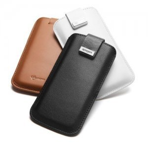 Чехол-карман для Apple iPhone 5/5S - SGP Leather Pouch Crumena белый