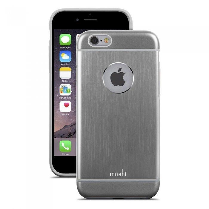 Чехол-накладка для Apple iPhone 6 - Moshi iGlaze Armour серый