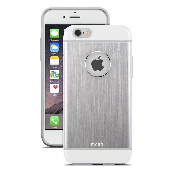 Защитный чехол Moshi iGlaze Armour серебристый для iPhone 6/6S