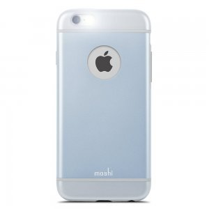 Чехол-накладка для Apple iPhone 6 - Moshi iGlaze голубой