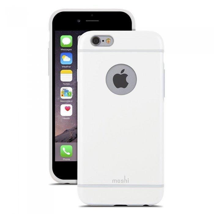 Чехол-накладка для Apple iPhone 6 - Moshi iGlaze белый